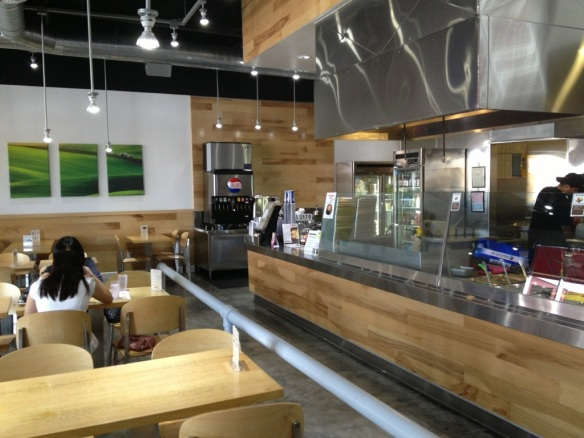 I give Sizzling Stone high marks for its clean, modern interior.