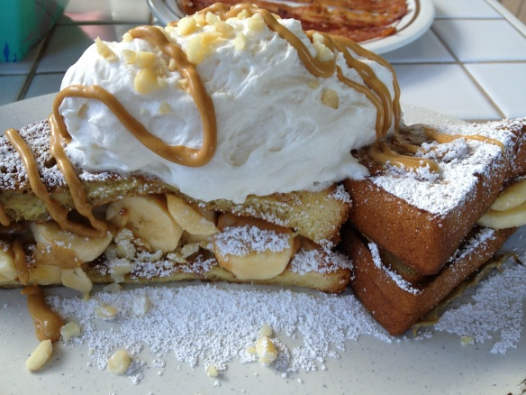 The peanut butter banana french toast special. I am still having dreams about this.
