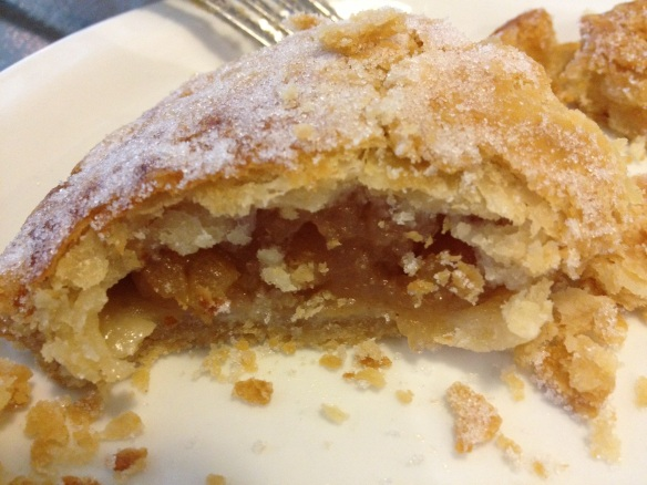 A flaky, sugary pouch of pure apple goodness.