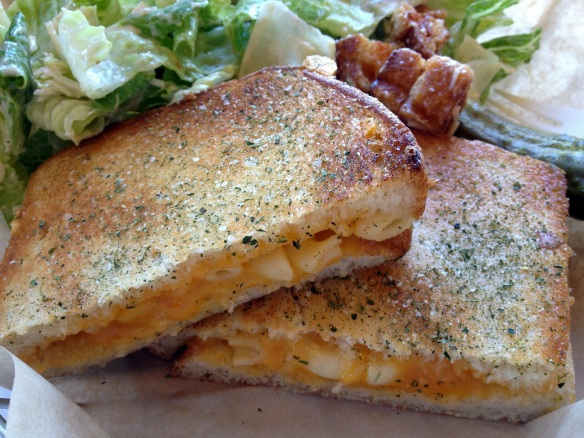 Macaroni and cheese IN a grilled cheese sandwich. *eye twitch*