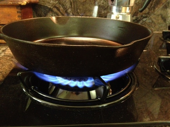 A hot pan is a happy pan.