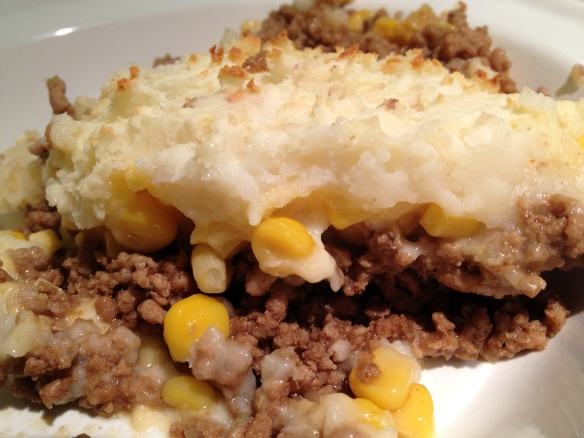 A completely non-authentic shepherd's pie rip off. We loved it.