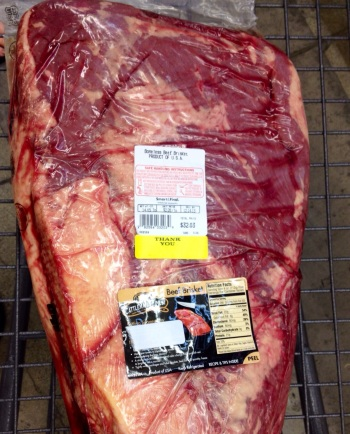 Of all places, Smart & Final stocks whole briskets regularly. They're cheap as heck too.