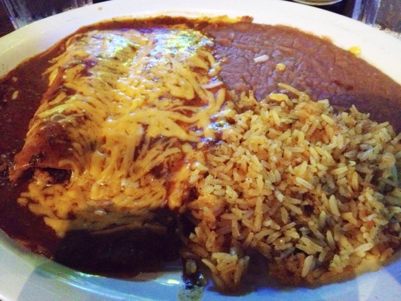 The holy grail of Mexican food: An enchilada platter.