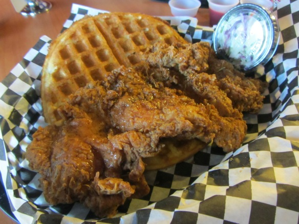 I'm going to order the heck out of some chicken and waffles next time.