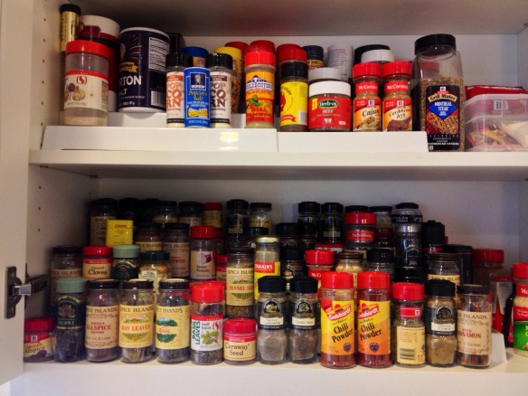 Happiness is an alphabetized spice cupboard.