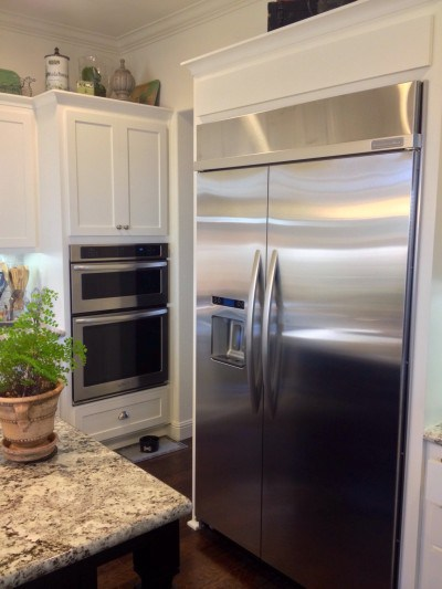 The new fridge is bigger than our old closet.