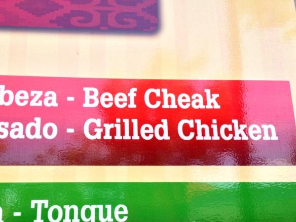 The menu seems to be a bit tongue in cheak.