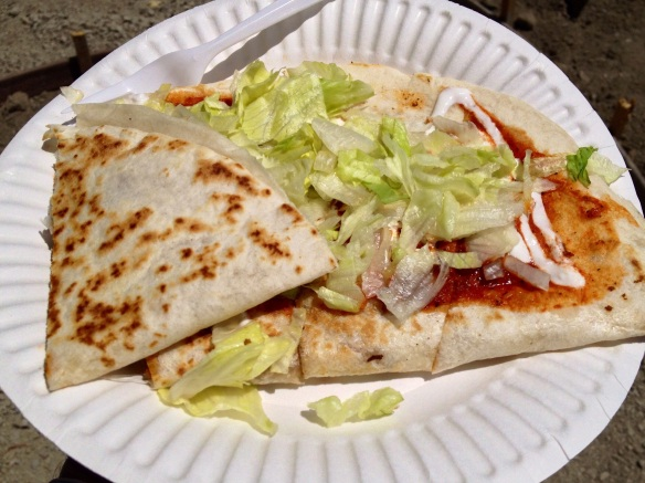 I really and truly had a dream about this quesadilla later that night.