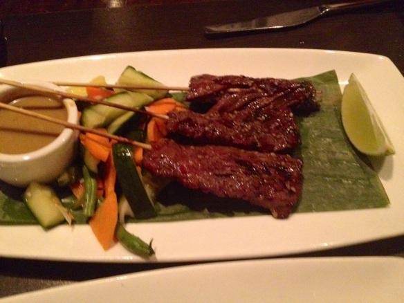 Meat on sticks. Satay is caveman food done all fancy-like.