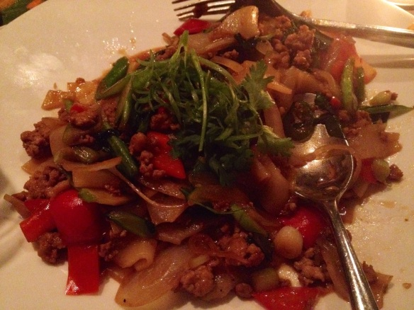 The drunken noodles were mostly just tipsy.