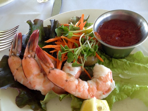 Well, hello little shrimp. Join me for lunch?