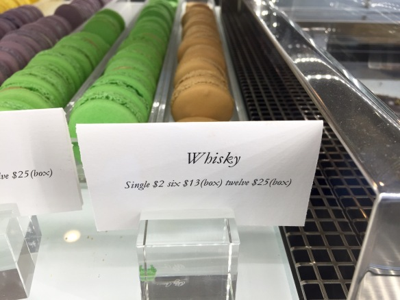 Colorful little disks of macaron excellence. And yeah, 'whisky' is really a flavor.