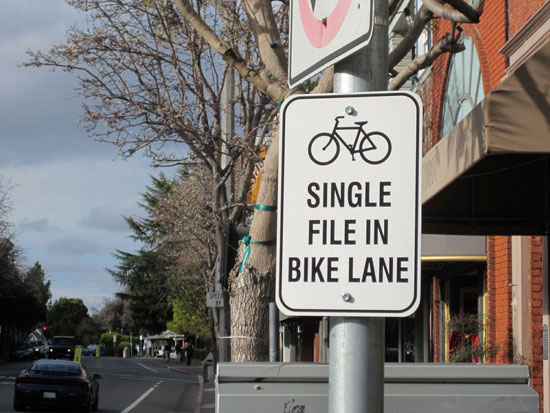 This is an example of a sign that bicycle tourists ignore.